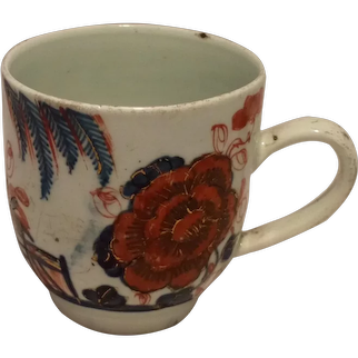 Liverpool Porcelain Coffee Cup Floral Spray Antique c 1760 Richard Chaffers