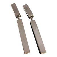 Bold Silver Clip Earrings