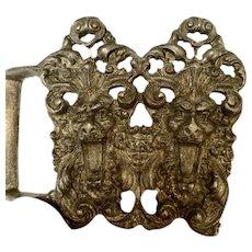 Richard Synek Double Lion Brass Belt Buckle