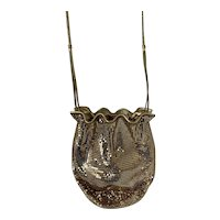 Whiting and Davis Gold Cross Body Purse