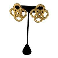 Natori Bold Clip Earrings