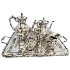 Sterling Silver Six Piece Coffee & Tea Service