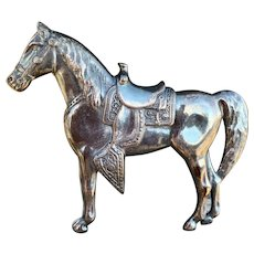 Sterling Western Horse Pin