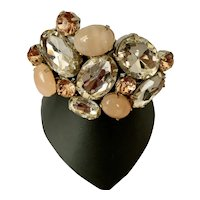 Pink Rhinestone Clamper Bracelet