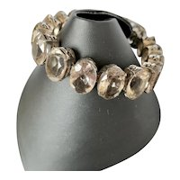 Smokey Quartz Sterling Bracelet