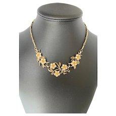 Floral Rhinestone Necklace