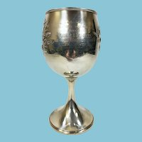 Antique Sterling Silver Award Trophy Cup German Master Brewer New York
