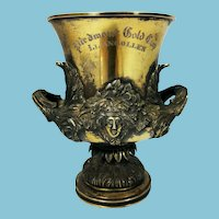 Antique Sterling Silver Horse Racing Trophy Piedmont Gold Cup Llangollen, Virgina