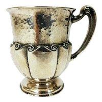Antique Sterling Silver Child's Christening Mug THEODORE B. STARR New York