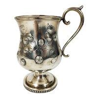 Antique Coin Silver Child's Christening Mug JOHN L. WESTERVELT Newburg New York
