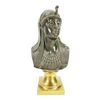 Antique Gilt Bronze Patinated  Bust Sculpture of Egyptian Princess Grand Tour