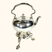 Great Antique Sheffield Silverplate Tilting Hot Water Server Smith Sissons Co.