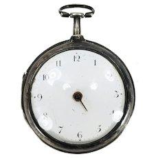 Antique English Silver Fusee & Chain Drive Pocket Watch E.M. LEVI Ramsgate #20