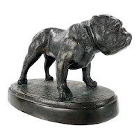 Antique Bronze Bulldog Dog by Brooklyn Foundry New York City