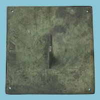 Antique English Bronze Sundial from BATH England