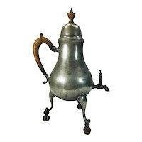 Early Northern European Pewter Hot Water Tea Coffee circa 1800