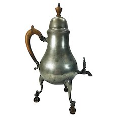 Early Northern European Pewter Hot Water Tea Coffee circa 1800