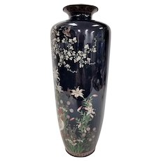 Large Fine Antique Japanese Cloisonne' Vase Possibly by OTA