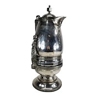 Antique American Silverplate Ice Water Pitcher By Brooklyn maker Jas. Simpson