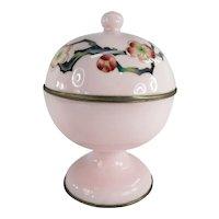 Antique Japanese Ando Cloisonne Enamel Prunus Decorated Candy Dish