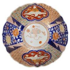 Antique Japanese Finely painted Enamel Porcelain Fukagawa Bowl
