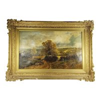 Fine Antique English Landscape Painting by RA Artist James Peel