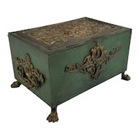 Antique 19th Century Caldwell Style Bronze Box or Casket