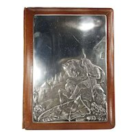 Antique Russian Fine Silver St George Slaying the Dragon Folio Case