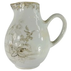 Antique Chinese Export Grisaille Palette Porcelain Creamer