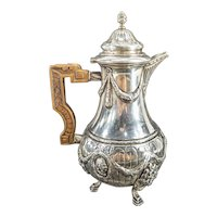 Antique 18th c. 12 Loth German Coin Silver Coffee or Chocolate Pot