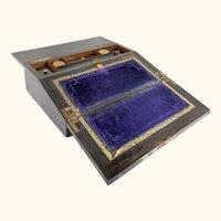 Antique Coromandel and Bronze Gothic Style Writing Stationary Box