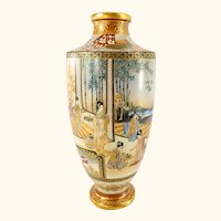 Antique Japanese Satsuma Vase attributed to Kinkozan