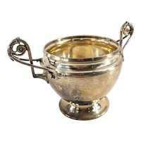 Antique Gorham Coin Silver Sugar Dish Bowl
