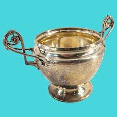 Antique Gorham Coin Silver Sugar Dish Bowl