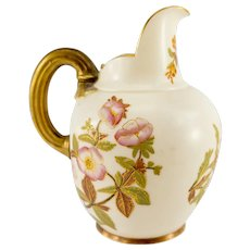 Antique Royal Worcester Aesthetic Floral Pitcher Creamer