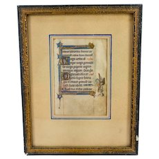 Antique Gothic Style Illuminated Manuscript Page Bookplate