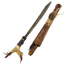 Antique Mandau Dayak Borneo Headhunters Sword