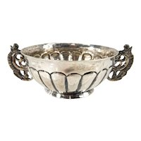 Antique Spanish American Colonial Silver Bowl