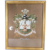 Antique Tiffany & Co Gouache Family Crest Coat of Arms Painting