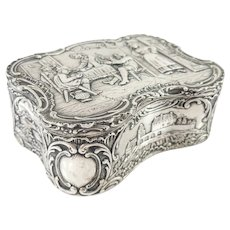Antique French Sterling Silver Hallmarked 18th Century Jewelry Box