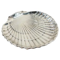 Gorham Sterling Silver Sea Shell Shaped Crustacean Tray
