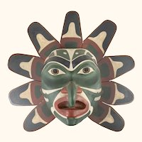 Vintage Decorative Northwest Coast Native American Indian Mask