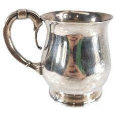 Antique Wood & Hughes Sterling Silver Engraved Mug