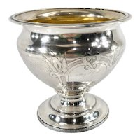 Antique Wood and Hughes New York Coin Silver Gilt Bowl