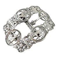 Antique German Sterling Silver Hallmarked Belt Buckle