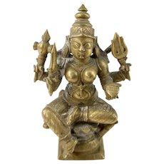 Indian Hindu Cast Bronze Shiva Vishnu
