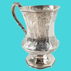 New York City Coin Silver Cup or Mug by William Tenney