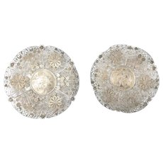 Chinese Sterling Silver Filigree Decorative Dishes