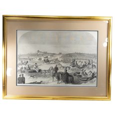 Antique Winslow Homer Print of New York City Central Park