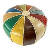 Vintage Decorative Vinyl Colorful Round Pillow